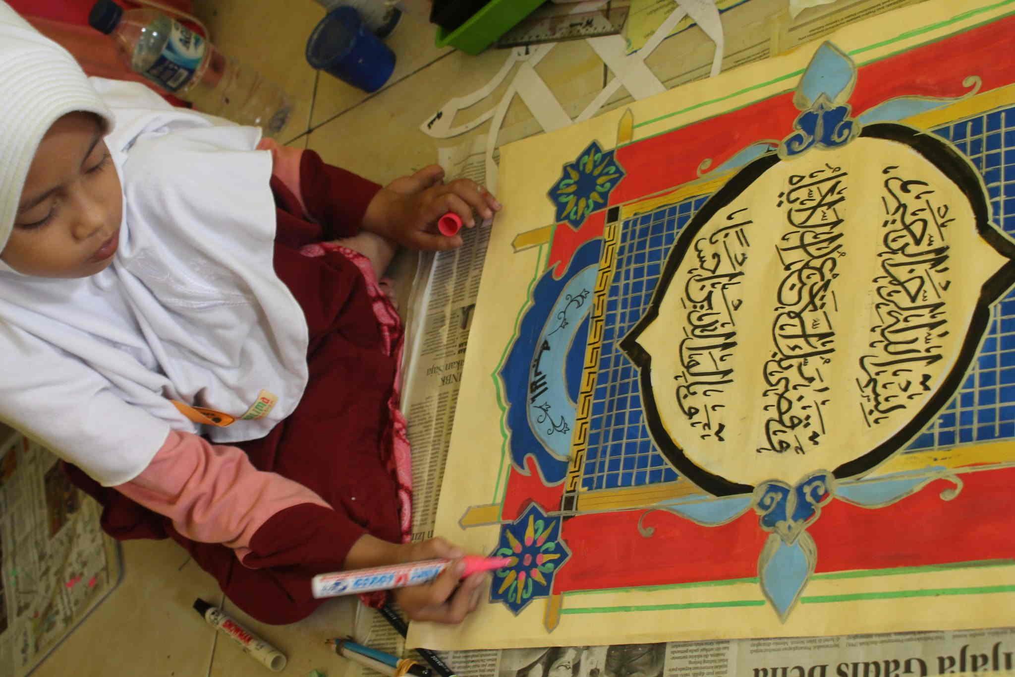 Seleksi Kaligrafi Fasi Festival Anak Sholeh Indonesia Ke X